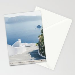 Santorini Stairs I (Vertical) Stationery Cards