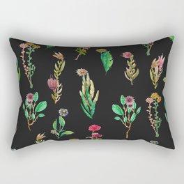 cute garden at nigth Rectangular Pillow