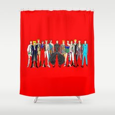 Red Bowie Group Fashion Outfits Shower Curtain