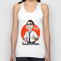 pacific rim Tank Tops featuring Pacific Rim Kaijuu Groupie  by TheDigitalPandora