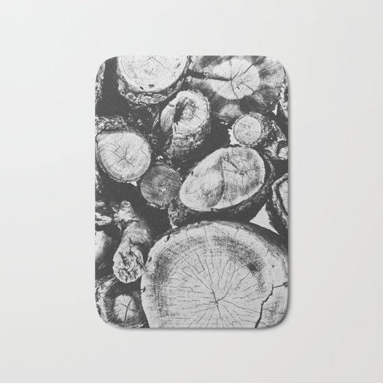 Cut wood II -Scandinavian art Bath Mat