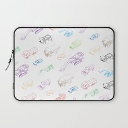 pattern with isometric icons of special equipment and machines Laptop Sleeve