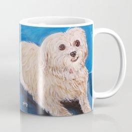 Shih Tzu Maltese Mix Dog Portrait Coffee Mug