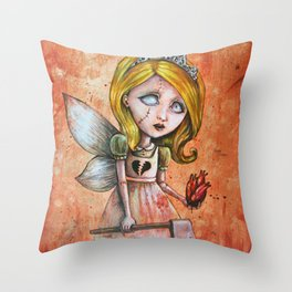 Love Hurts Dark Valentines Undead Fairy Princess Throw Pillow