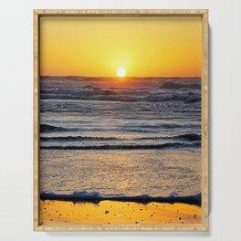 Yellow Beach Sunset Serving Tray