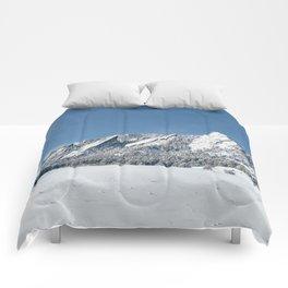 Snowy Flatirons Comforters