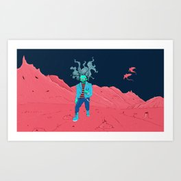 SpaceZomb Art Print
