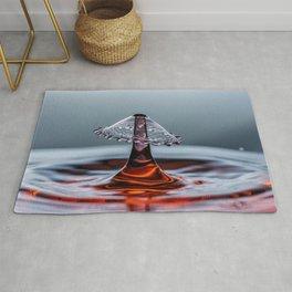 Red liquid Mushroom waterdrop 6737 Rug
