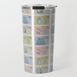 Minerology Quartz Crystal Postage Stamps Travel Mug