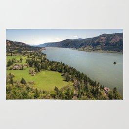 Columbia River Gorge Washington Rug