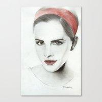emma watson Canvas Prints featuring Emma Watson by Simona Borstnar