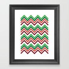 Xmas Chevron Framed Art Print