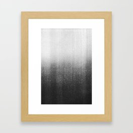 BLUR / abyss / black Framed Art Print