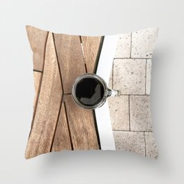 Artistic Cold Brew Shot 2 // Wood Steel & Stone Caffeine Coffee Shop Barista Wall Hanging Photograph Throw Pillow