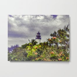 Key West Lighthouse - Painterly Photo Manipulation Metal Print