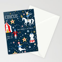 Retro Circus Stationery Cards