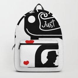 Just Married Groom and Groom Gay Marriage Backpack
