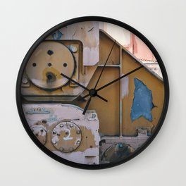 industrial pastels 1 Wall Clock