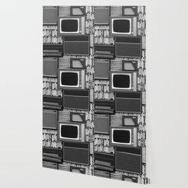 Everything Retro (Black and White) Wallpaper
