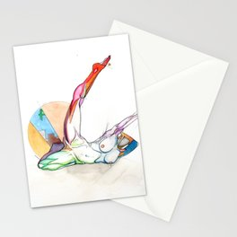 Dances with the stars (Useless), Female anatomy dancer, NYC artist Stationery Cards
