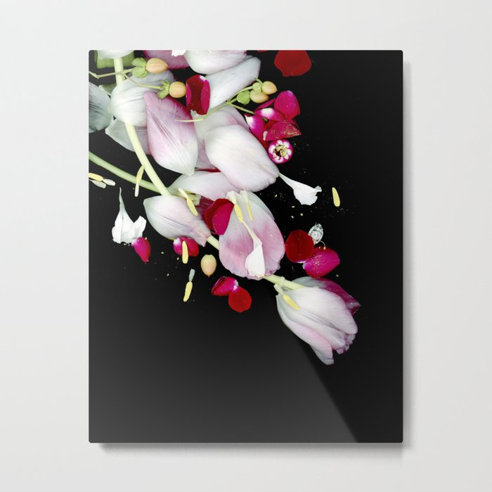 Scattered Flowers Metal Print