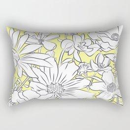 Flower Meadow Yellow Rectangular Pillow