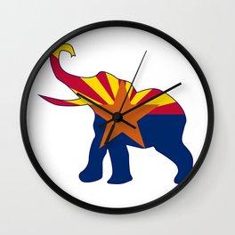 Arizona Republican Elephant Flag Wall Clock