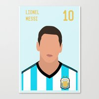messi Canvas Prints featuring MESSI by Anthony Morell
