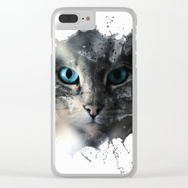 Cat Splash Clear iPhone Case
