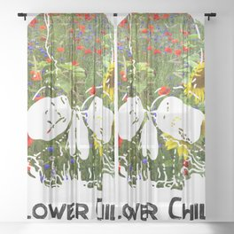 Flower Child II Sheer Curtain