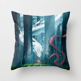 The Dreamer's Silk Throw Pillow