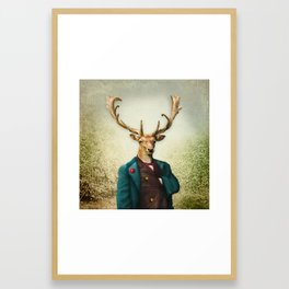 Lord Staghorne in the wood Framed Art Print