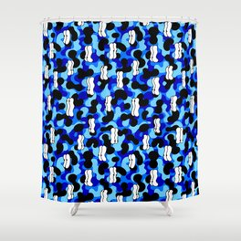 Bubble eyes Shower Curtain