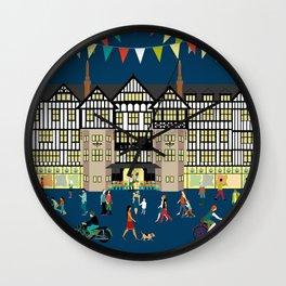 Art Print of Liberty of London Store - Night time Wall Clock