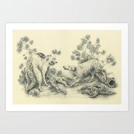Borzoi Art Print