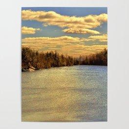 Lake Minnewaska in Autumn Poster