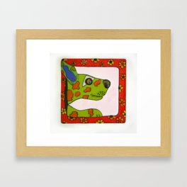 Dexter Dog Goes For A Ride Framed Art Print