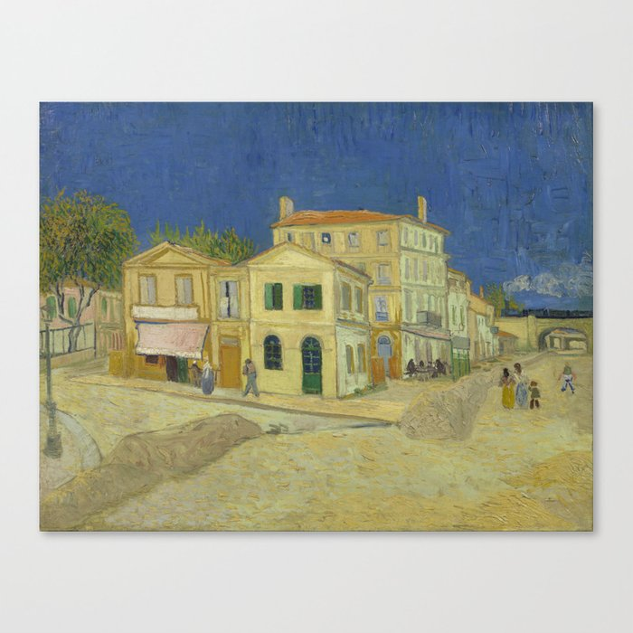 The Yellow House by Vincent van Gogh Leinwanddruck