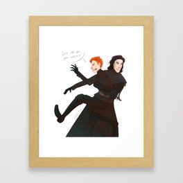 Trouble Framed Art Print