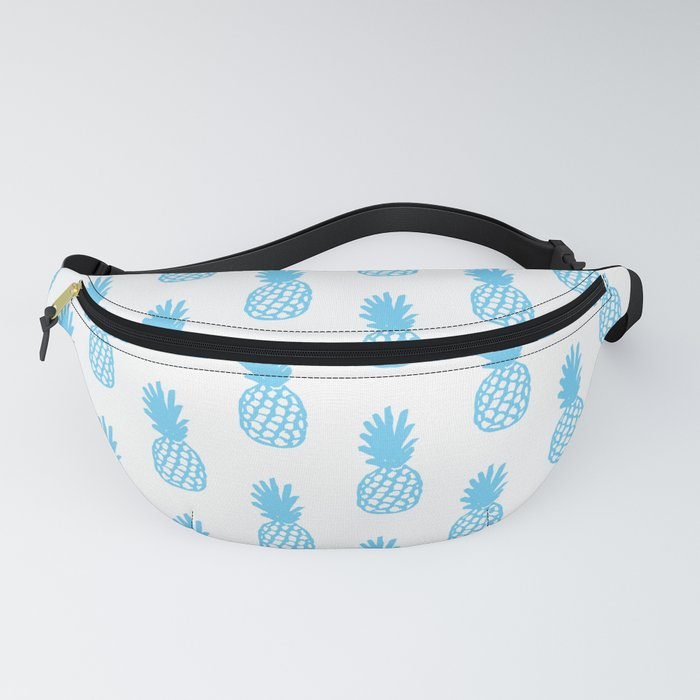 Light Blue Pineapple Fanny Pack