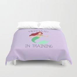 Mermaid in training Duvet Cover