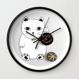Lucky and Kawaii Wall Clock