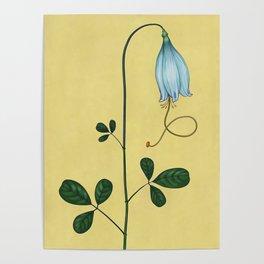 Capricorn Flower Poster