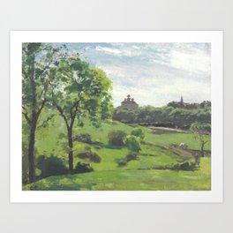 "Camille Pissarro ""South Norwood, étude"" Art Print"