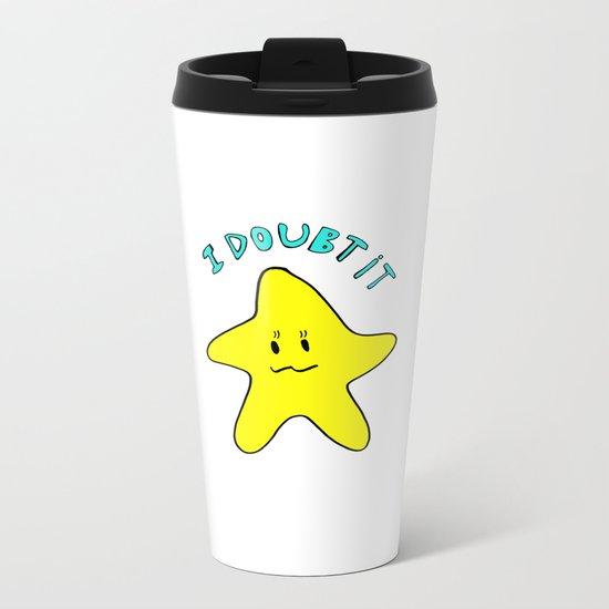 Skeptical star Metal Travel Mug
