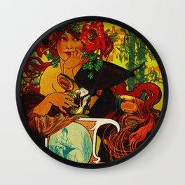 Vintage Art Nouveau Beer Ad Wall Clock