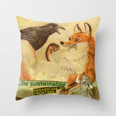 sustainable Throw Pillow