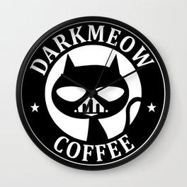 Darkmeow coffee Wall Clock