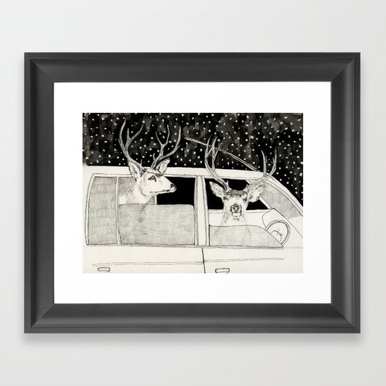Nella Foresta Framed Art Print