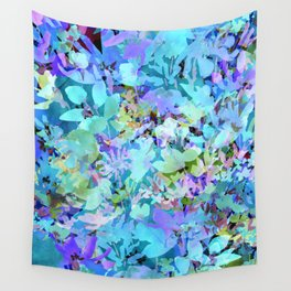 Sky Blue Poppies Wall Tapestry